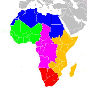 アフリカ大陸地図の写真